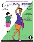 Cake Sewing Patterns Hummingbird Peplum Top & Straight Skirt